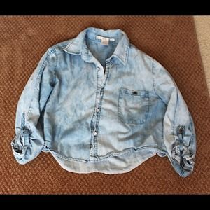 Acid denim washed top|small