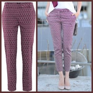 Ankle length pants geometrical pattern (0/2)