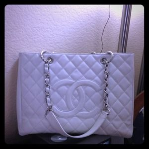 Authentic Chanel Grand Shopper GST in off white