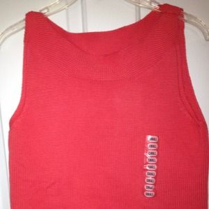Tops - Cute Bright Coral Knit Top - BNWT - Size Small.