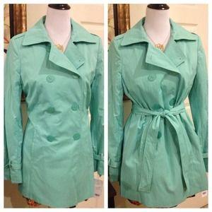 Tahari Jackets & Coats - {RESERVED} Tahari Mint Trench Coat