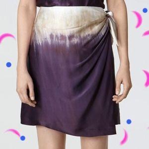 🎀 host pick 🎀 Tory burch dip dye silk wrap skirt