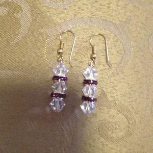Swavorski handmade crystal earrings