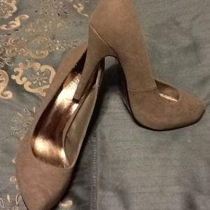 """4"""" never worn gray suede heels"""