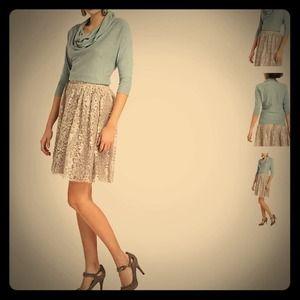 bundled Anthro lace skirt
