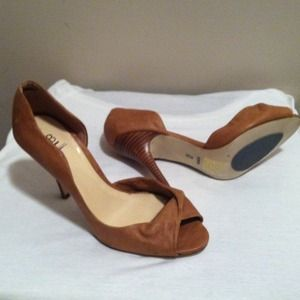 Bakers Shoes - New sexy leather peeptoe heels