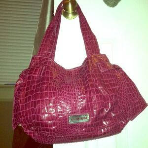 Authentic Nine West Hot Pink Snakeskin Handbag