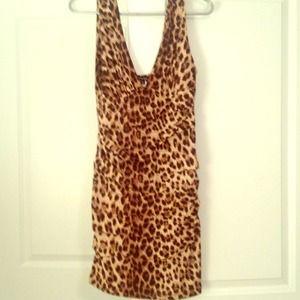 Leopard body con dress