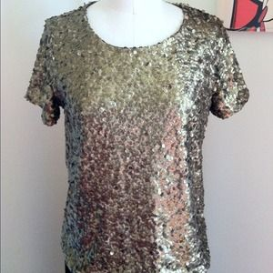 H&M Tops - Sequin Short Sleeve Tee - Size Small