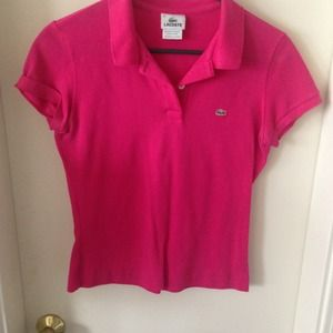 Lacoste Tops - Lacoste women's pink polo