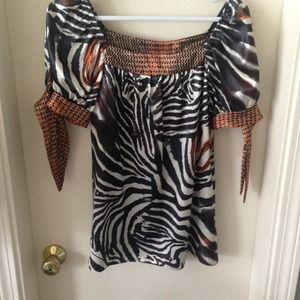 Tops - Unique Zebra print blouse