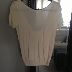 Victoria's Secret Tops - Cream SS Sweater with Bow detail on back