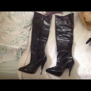 Latex  boots