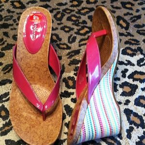 Style & Co Wedge Thong Sandal size 9.5