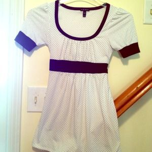 Baby doll polka dot top with tie in the back