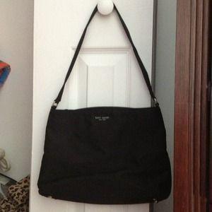 Kate Spade Nylon Sam Shopper Shoulder Bag Tote Black 105