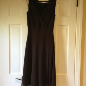 Cynthia howie Dresses & Skirts - Dress brown chiffon dress
