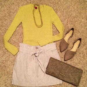 Merona Sweaters - LAST CHANCE ☇Merona lightweight chartreuse sweater
