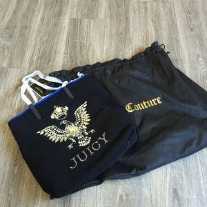 Juicy Couture Handbags - Juicy Couture Book Laptop tote bag handbag FAB ⚡