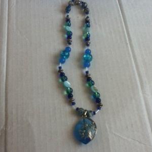 Jewelry - Blue Gemstone Necklace