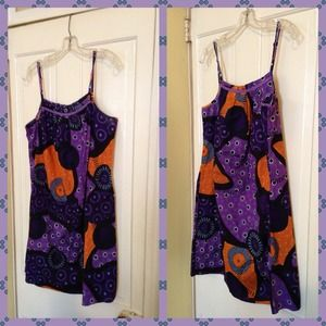 exhilaration Dresses & Skirts - Summer cotton dress XL never worn. Indian fabric.