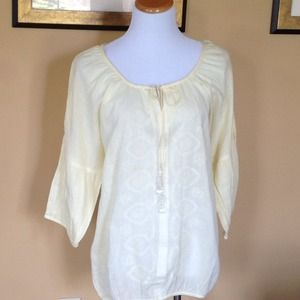 Bandolino Embroidered Peasant Blouse