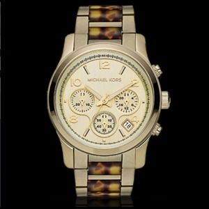 Michael Kors Chronograph Gold-toned Ladies' Watch