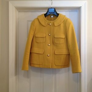 JCrew yellow wool blazer jacket