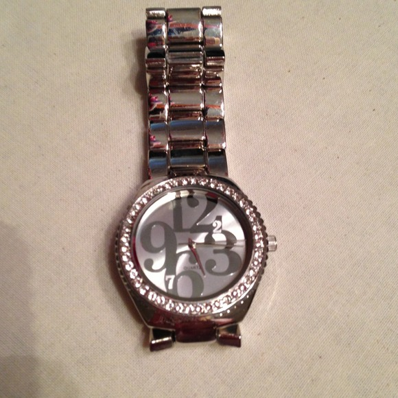 Jewelry - SOLD Sliver Bling Watch
