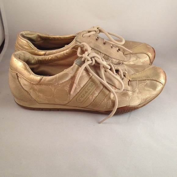 5465e92988a Coach Shoes - Coach Sneakers in Gold