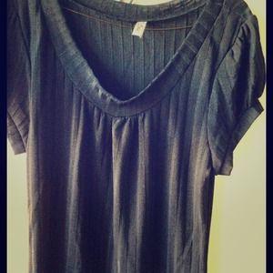 Simple Black Striped Pattern Top