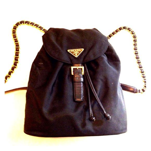 Prada Backpack With Chain