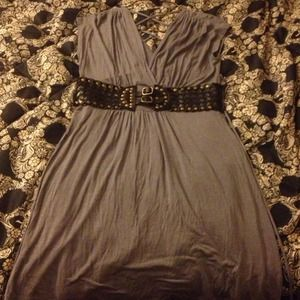 Grey sinch waist dress