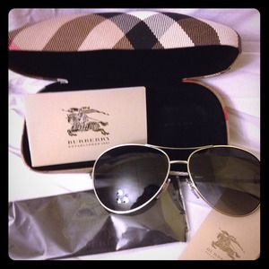 dd995740b735 Burberry Accessories - 🔴❗SOLD❗New Burberry aviator sunglasses B3056