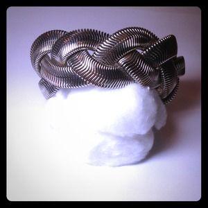 Jewelry - Silver mesh braided bracelet!
