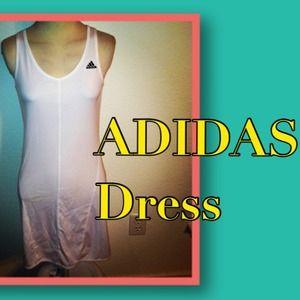 REDUCED! ✂ Adidas Sz S White athletic dress