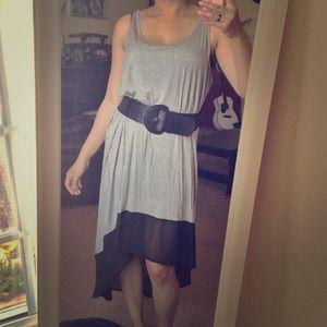 🔴SOLD🔴 F21 Hi-Low Dress (Heather Grey/Black)