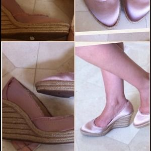 Pedro Garcia NEW Wedge Pink/Peach Shoes, Size 37