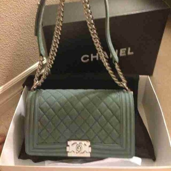 7 Off Chanel Handbags Chanel La Boy M Size Light Blue
