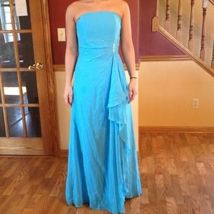 Light Blue Long Prom Dress with Sequins