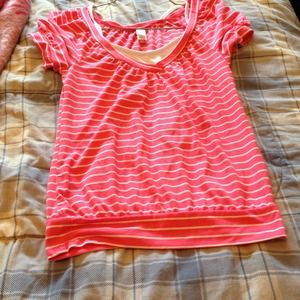 Pink with white stripes