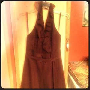Dark Chocolate Brown Bridesmaid's Dress