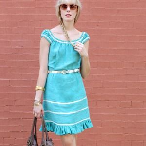 Betsey Johnson Dresses & Skirts - *Reduced* Mint colored linen Betsey Johnson dress