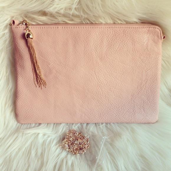 Tassel envelope clutch - pink x 2