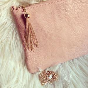 Bags - Tassel envelope clutch - pink x 2