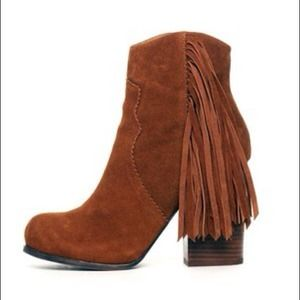 Jeffrey Campbell fringe ankle boots
