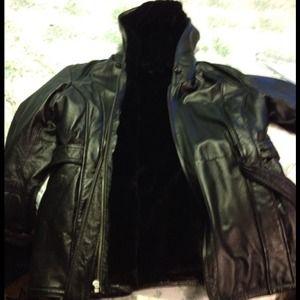 100.00 leather coat. Brand new.