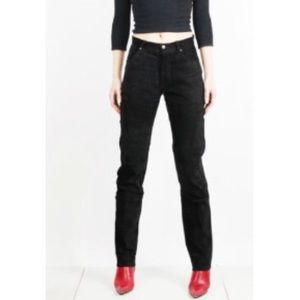 Vintage Lee black leather suede pants 9/10