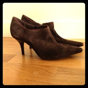 Boots - Chocolate brown suede ankle boots
