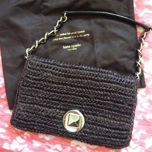 Price Cut! Kate Spade straw clutch/handbag